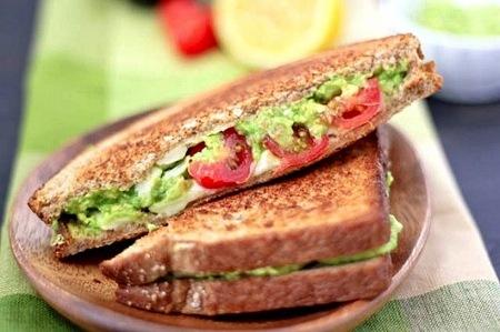 Avocado, white cheddar & tomato grilled cheese
