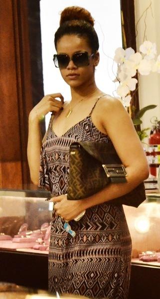 Rihanna in a maxi dress