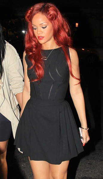 Rihanna in a LBD