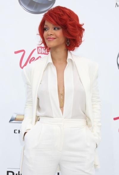 Rihanna with a bob