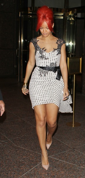 Rihanna in polka dots