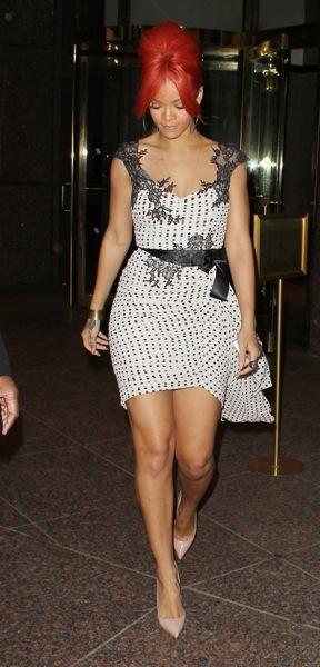 Rihanna in polka dots