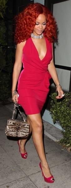 Rihanna in a cocktail dress
