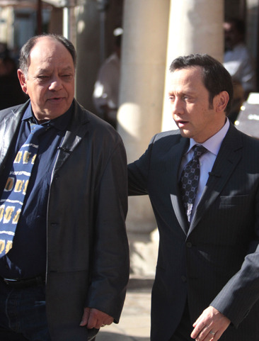 Rob Schneider and Cheech Marin at the Grove