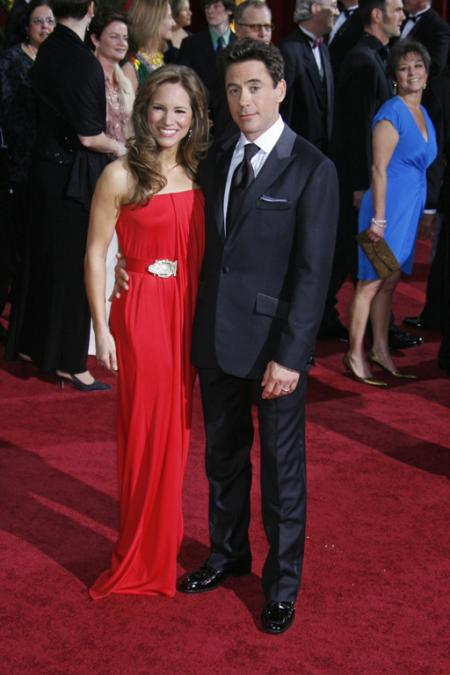 Robert Downey Jr and wife Susan Downey at the 2009 Oscars