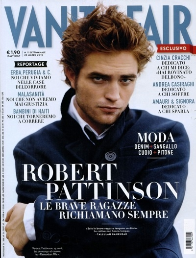 Robert Pattinson Italian Vanity Fair