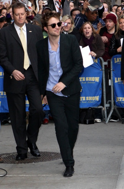 Robert Pattinson at David Letterman
