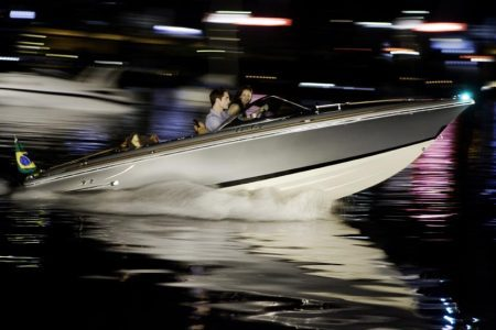 Breaking Dawn: Bella and Edward on a boat