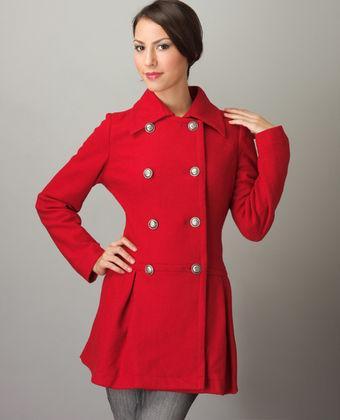 Lulus Rockette Red Pea Coat