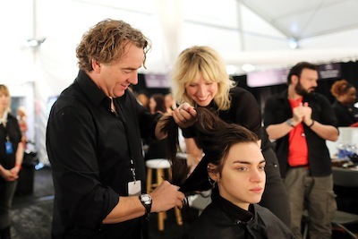 Rodney Cutler backstage at NYFW spring 2013