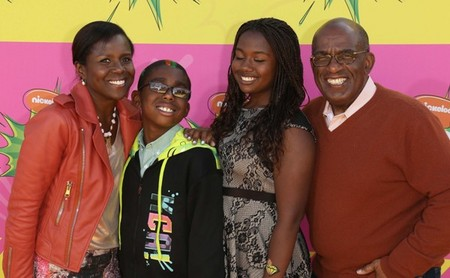 Al Roker and family smile for the camera