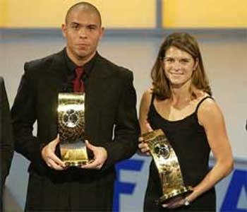 Mia Hamm and Ronaldo
