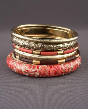 Rosalba Bangles in Gold