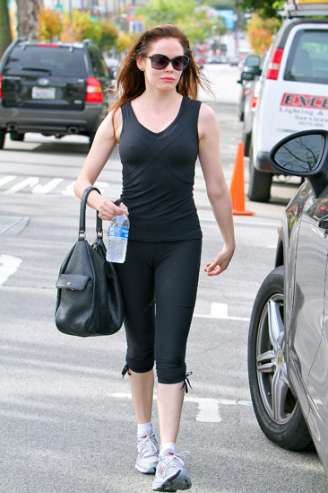 Rose McGowan leaves her gym