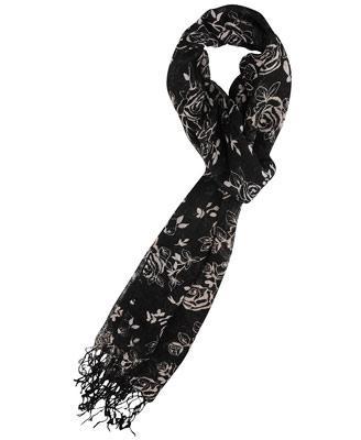 Rose Pattern gauze scarf
