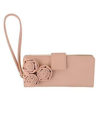 Rosette Leatherette Wallet
