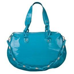 Round Shaped Tote in Teal