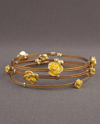 Round the Rosie Bangles in Yellow