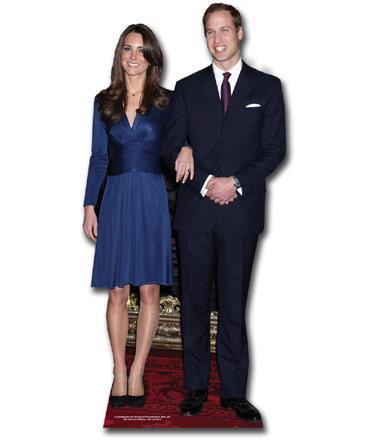 Royal couple cutout