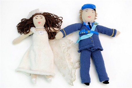Royal knit dolls