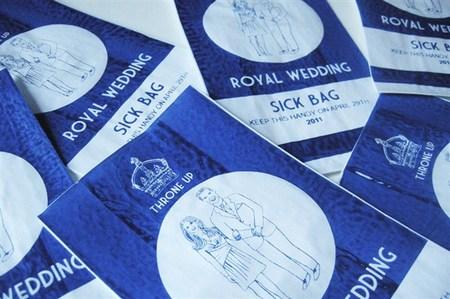 Royal wedding barf bag