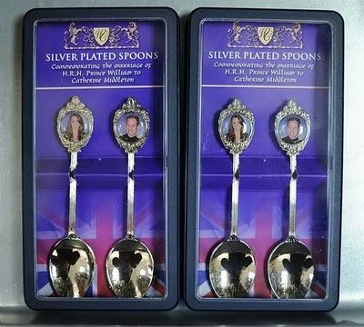 Royal silver spoons