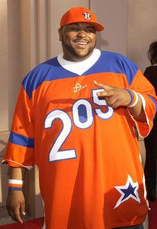 "Ruben Studdard wearing ""205"" gear"
