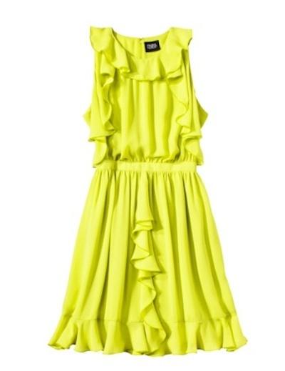 Sulfur ruffle dress