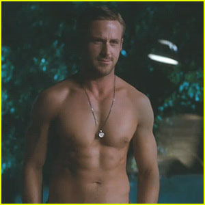 Shirtless Ryan Gosling in Crazy, Stupid, Love. Oh...yes.