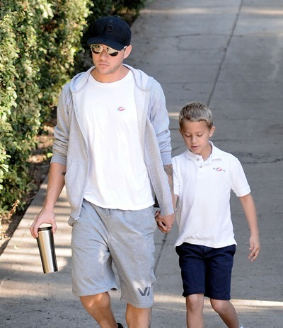 Ryan Phillippe on a stroll with his son Deacon.