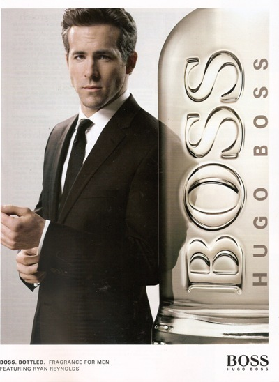 Ryan Reynolds poses for Hugo Boss
