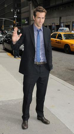 "Ryan Reynolds Arriving at ""Late Show with David Letterman"""