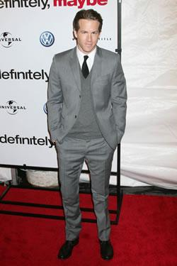 "Ryan Reynolds at the ""Definitely, Maybe"" Premiere in New York"
