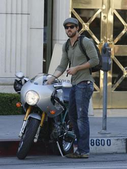Ryan Reynolds Running Errands in LA on his Motorcycle