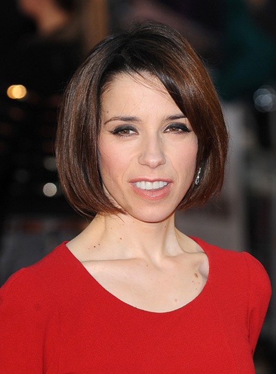 Sally Hawkins&#039; brunette, bob hairstyle