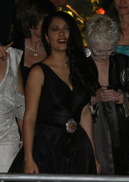 Salma Hayek at the Vanity Fair Oscar party