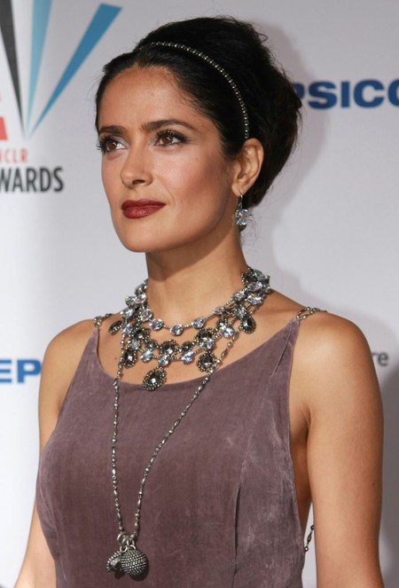 Salma Hayek's Blinged-out Hairstyle