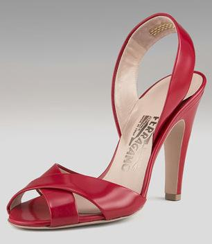 Salvatore Ferragamo Crisscross Sling Sandals