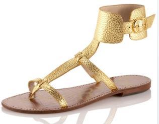 Sam Edelman Gold Thong Gladiator Sandals