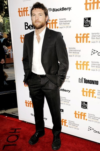 Sam Worthinton looking scruffy at the Toronto International Film Festival