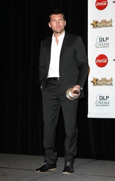 Sam Worthington at the ShoWest 2010 Awards Ceremony