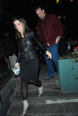 Sandra Bullock and Jesse James at Waverly Inn in NYC