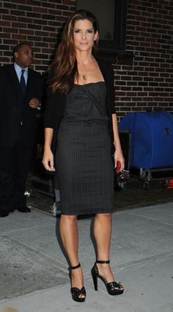 "Sandra Bullock outside the ""Late Show with David Letterman"""