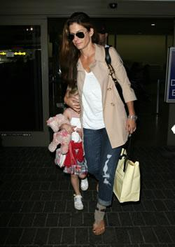 Sandra Bullock and Step-Daughter at LAX