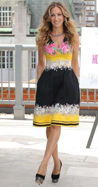 Sarah Jessica Parker in a summer dress