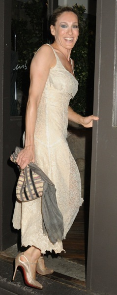 Sarah Jessica Parker in a white dress