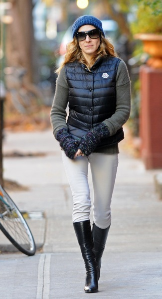 Sarah Jessica Parker in a beanie