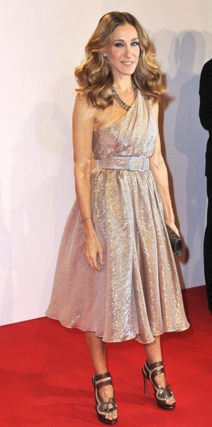 Sarah Jessica Parker in a sparkle dres