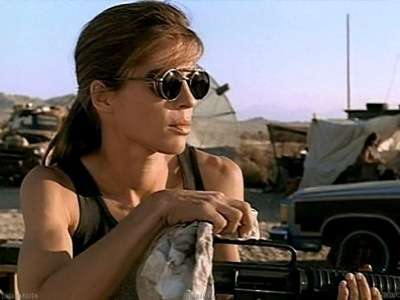 Linda Hamilton as Sarah Connor in Terminator