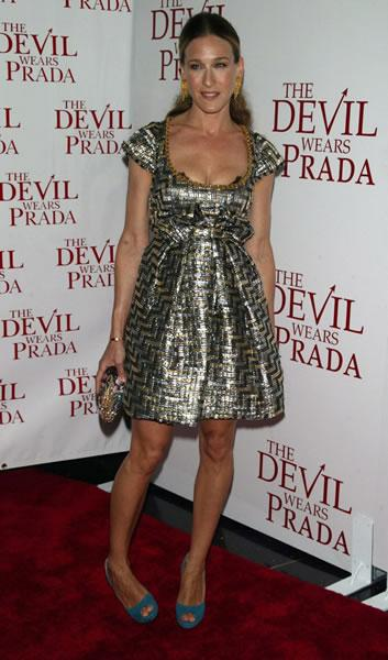 Sarah Jessica Parker arrives at the premiere of 'The Devil Wears Prada.'